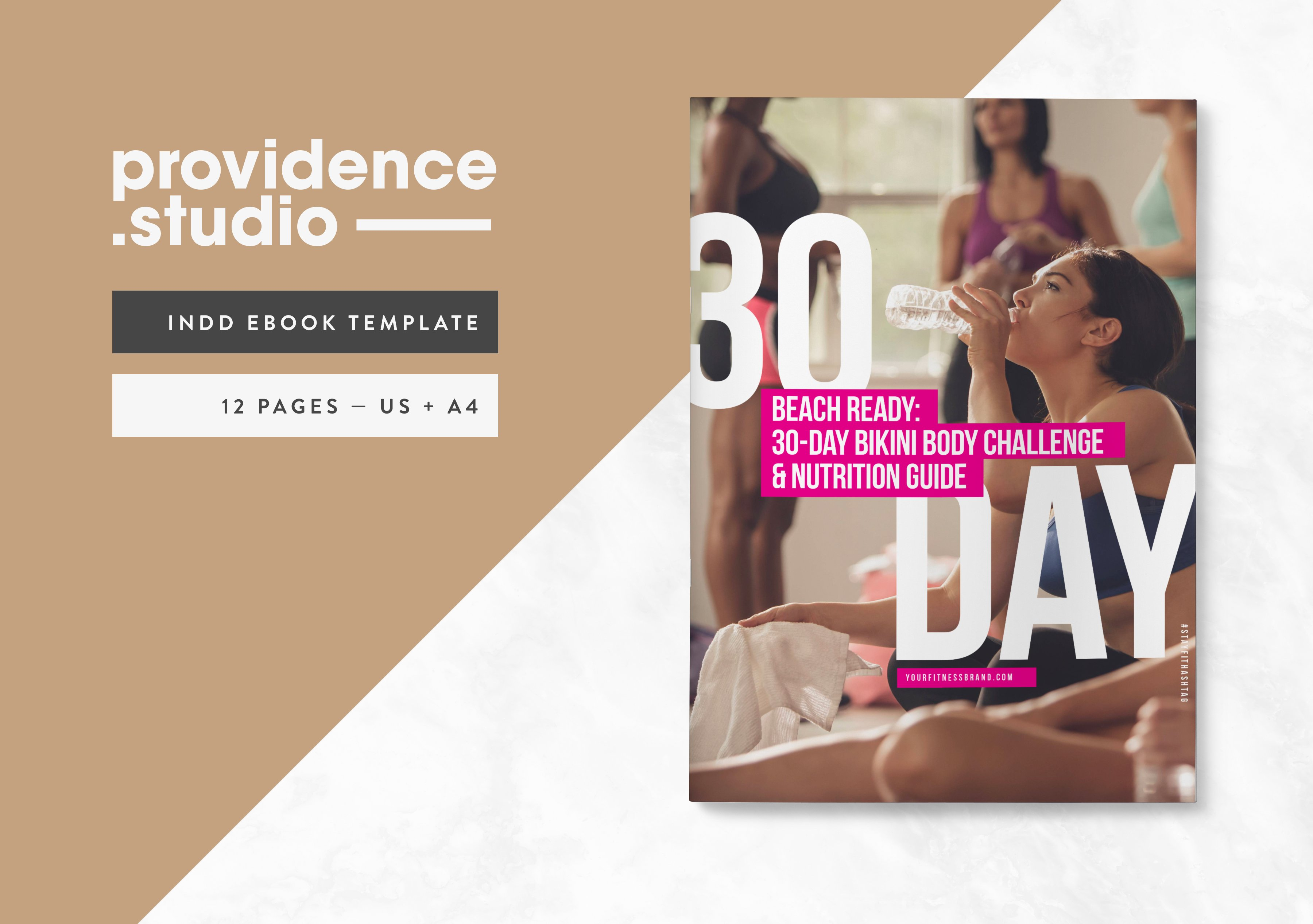 Fitness Modern Ebook Template ~ Magazine Templates ~ Creative Market