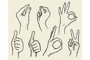 Set of Four Hands