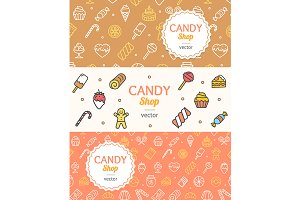 Sweets and Bakery Candy Banner