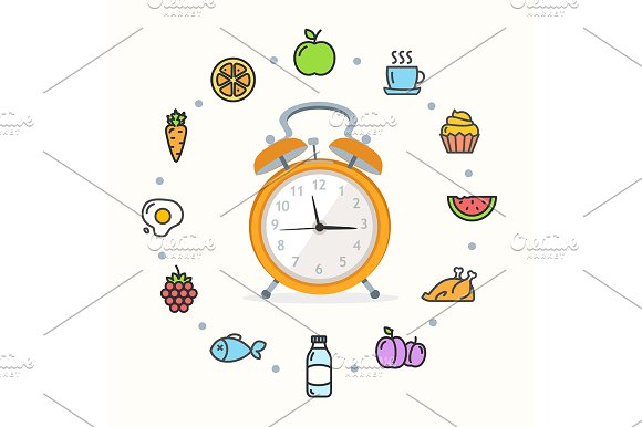 Every Day Raw Food Vector
