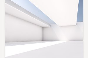Abstract architecture interior