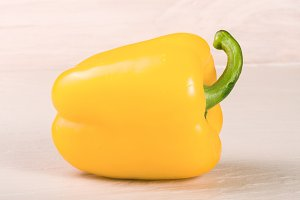 yellow sweet pepper on white background