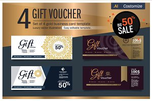 Gift Voucher Gold Template