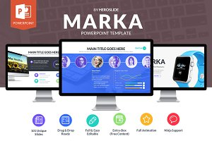 Marka , Business Powerpoint Template