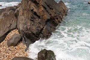 sea in ribadesella Asturias Spain