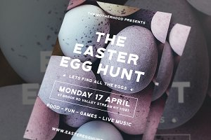 Modern Easter Egg Hunt Flyer