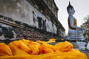 Old Buddha statue in Thailand