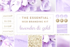 Lavender Gold Web Blog Branding Kit