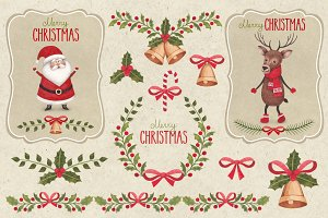 Cute Christmas illustrations pack