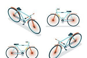 Isometric Bike Icon