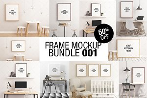 Frame Mockup Bundle 001 - 50% OFF