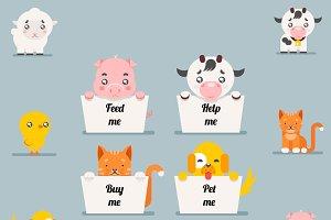 Cute little beggar animals