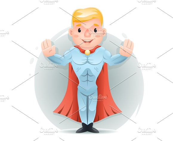 Hero Character Calm Down