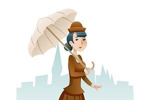 Victorian Lady Businesswoman