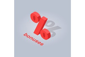 Bonuses for Online Purchases Isolated Illustration