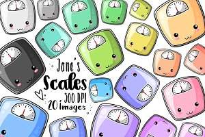 Kawaii Scales Clipart