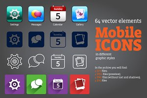 Mobile Icons Isolated Set