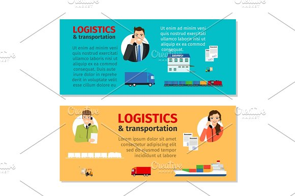 Logistics And Transportation Banners