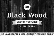 30 Black Wood Vector Textures