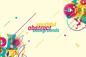 Youthful abstract backgrounds