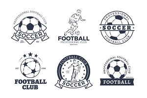 Set of Football Club Graphic Icons Flat Design