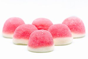 jelly sweets candy pink white