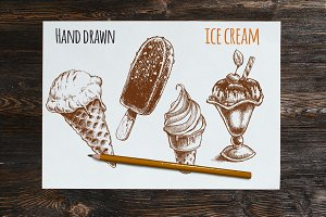 Ice cream vector sketches
