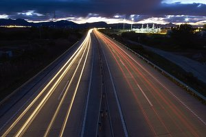 Long exposure of traffic