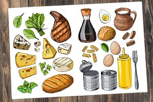 Vector food sketch
