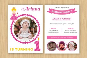 Birthday Invitation Template-V531