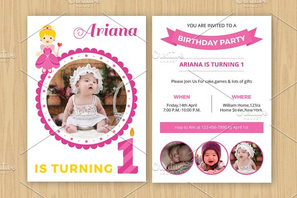 Birthday Invitation TemplateV531 Flyer Templates on Creative Market – Birthday Invitation Flyer Template