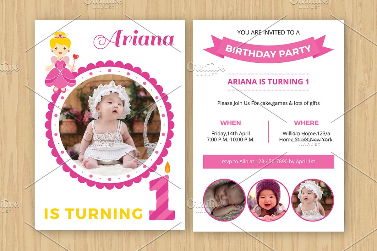 Birthday Invitation Template V531 Flyer Templates Creative Market