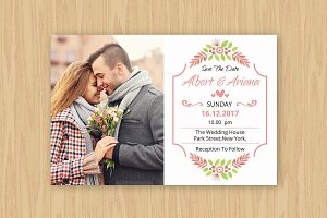 Save The Date Template-V532