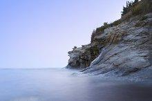 beach in the evening. Mediterranean