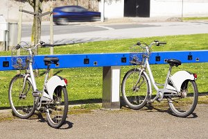 bicycle bike rental service point