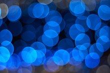 Blue lights defocused