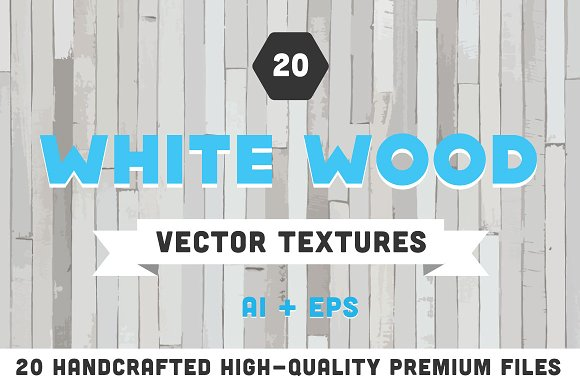 20 White Wood Vector Textures