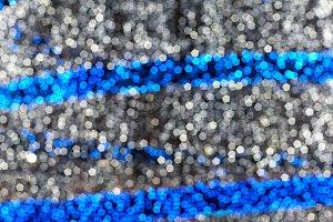 Defocus white and blue lights