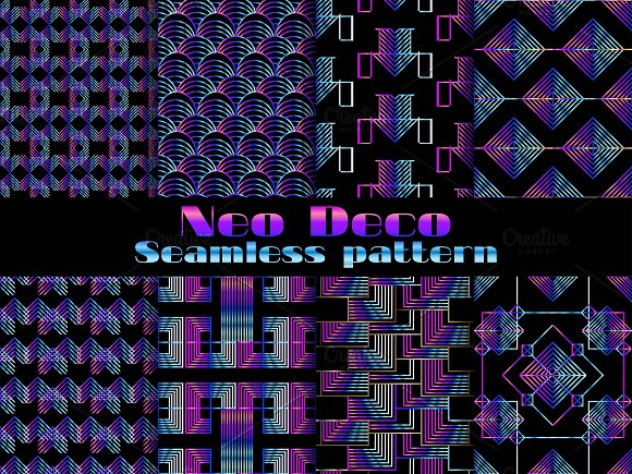 Neo Deco Seamless Pattern Set