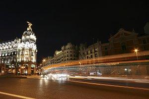 Traffic lights in center of Madrid