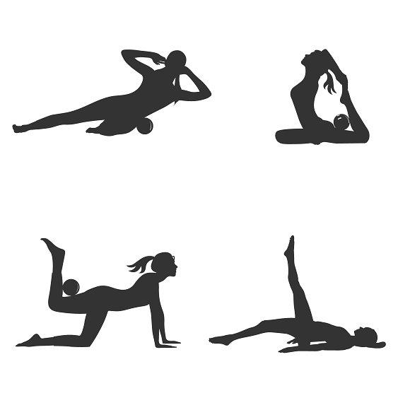 Fitness With Yoga Massage Ball