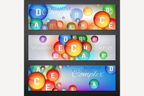 Vitamins Complex Banners