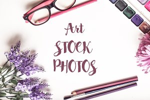 50% SALE Art Stock Photos Mockup