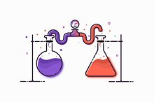 Chemical Experiments Illustration