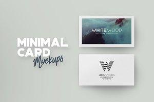 Minimal Card Mockups