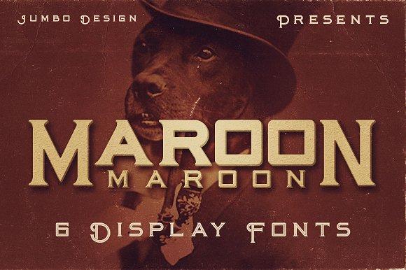 Maroon Vintage Style Font