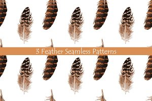 Feather Seamless Patterns
