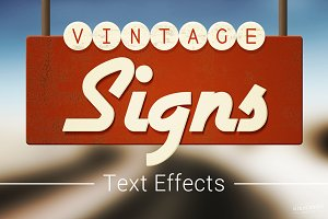 Vintage Sign Text Effects Mockup