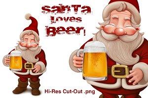 Santa Claus Beer - cut-out png