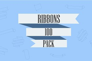 Vector 100 Ribbons Pack